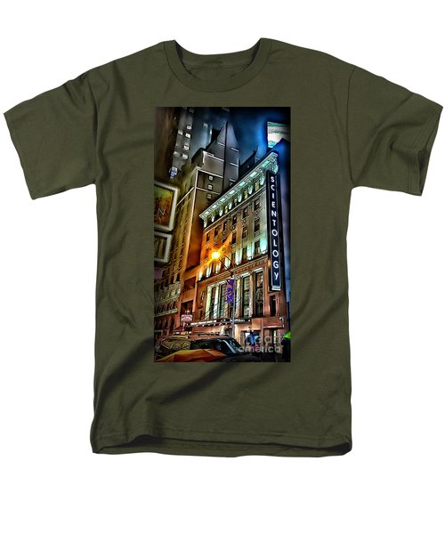 Men's T-Shirt  (Regular Fit) featuring the photograph Sights In New York City - Scientology by Walt Foegelle