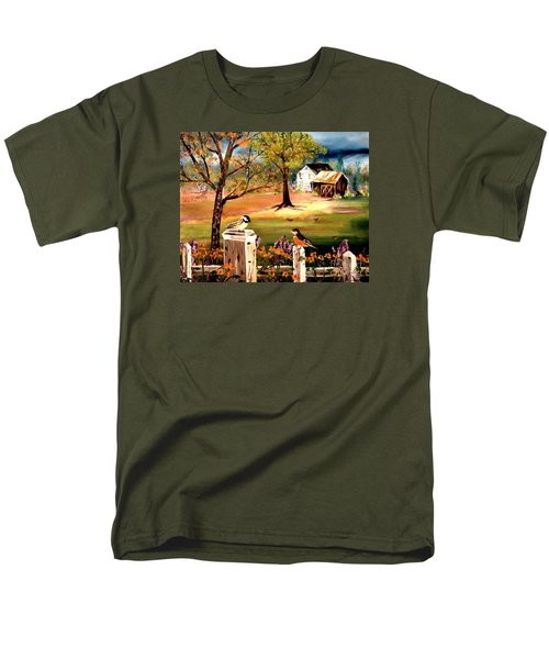 Men's T-Shirt  (Regular Fit) featuring the painting Signs Of Spring by Denise Tomasura