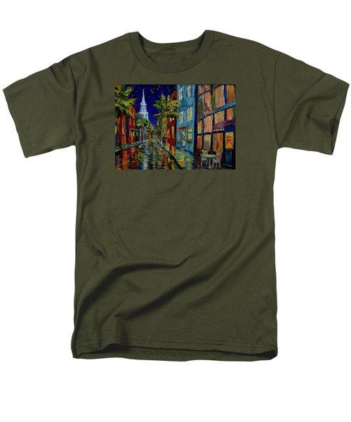 Silent Night Men's T-Shirt  (Regular Fit) by Dorothy Allston Rogers