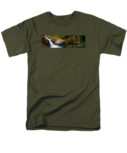 Silver Falls Panorama Men's T-Shirt  (Regular Fit) by Sean Griffin