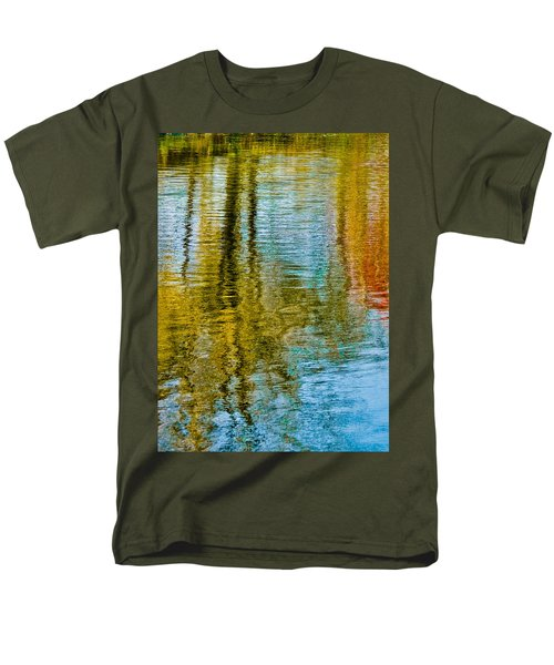 Silver Lake Autum Tree Reflections Men's T-Shirt  (Regular Fit) by Michael Bessler
