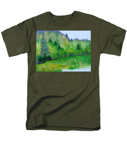 Men's T-Shirt  (Regular Fit) featuring the painting Simply Green by Rod Jellison