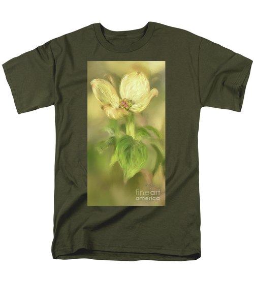 Men's T-Shirt  (Regular Fit) featuring the digital art Single Dogwood Blossom In Evening Light by Lois Bryan