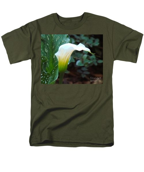 Single Lily  Men's T-Shirt  (Regular Fit) by Rand Herron