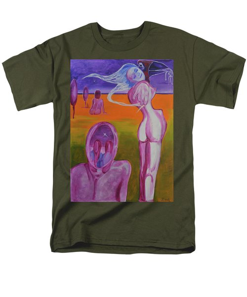Men's T-Shirt  (Regular Fit) featuring the painting Sirens by Christophe Ennis
