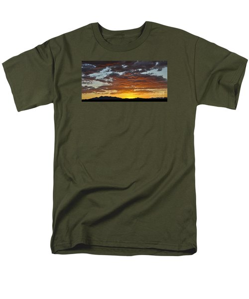 Men's T-Shirt  (Regular Fit) featuring the photograph Skies Of Gold by Gina Savage