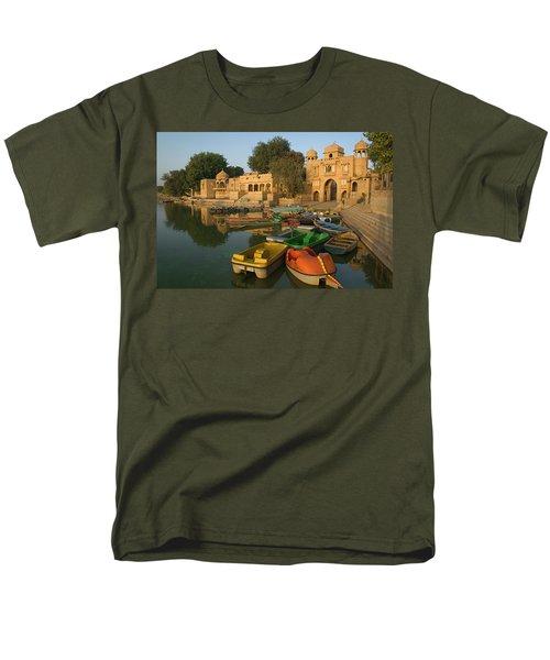 Skn 1391 A Visit To Gadisar Lake Men's T-Shirt  (Regular Fit) by Sunil Kapadia