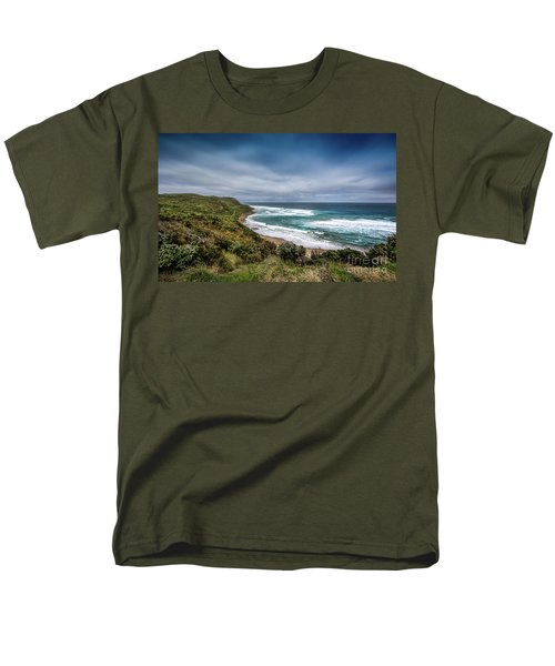 Men's T-Shirt  (Regular Fit) featuring the photograph Sky Blue Coast by Perry Webster