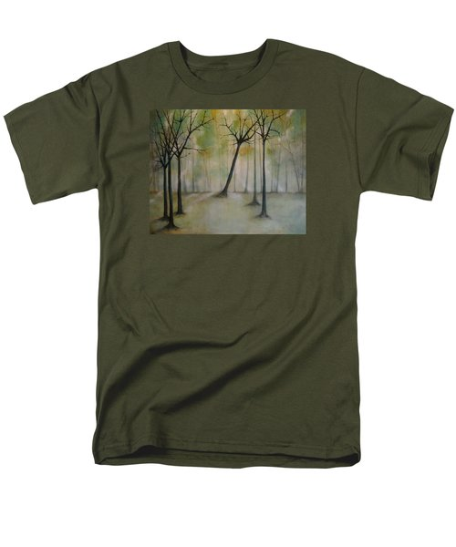 Men's T-Shirt  (Regular Fit) featuring the painting Sleeping Trees by Tamara Bettencourt