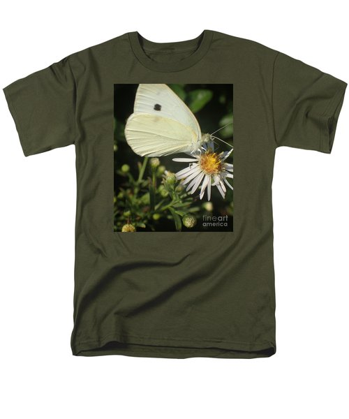 Men's T-Shirt  (Regular Fit) featuring the photograph Sm Butterfly Rest Stop by Christina Verdgeline