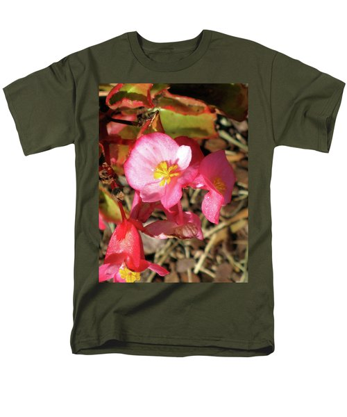 Small Pink Flowers Of Summer Men's T-Shirt  (Regular Fit) by Michele Wilson