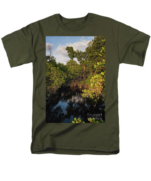Men's T-Shirt  (Regular Fit) featuring the photograph Small Waterway In Vitolo Preserve, Hutchinson Isl  -29151 by John Bald