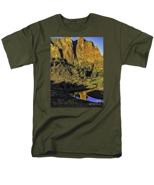 Smith Rock Reflections-1 Men's T-Shirt  (Regular Fit) by Nancy Marie Ricketts
