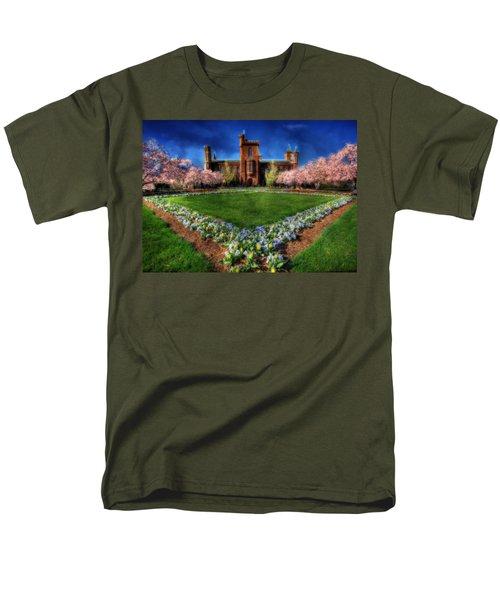 Spring Blooms In The Smithsonian Castle Garden Men's T-Shirt  (Regular Fit) by Shelley Neff