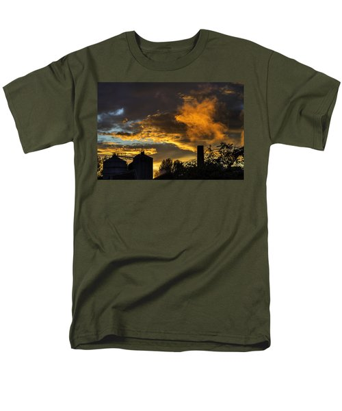 Men's T-Shirt  (Regular Fit) featuring the photograph Smoky Sunset by Jeremy Lavender Photography