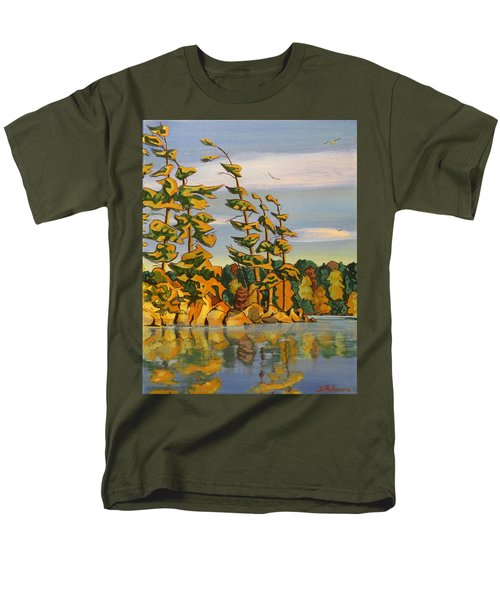 Snake Island In Fall Sunset Men's T-Shirt  (Regular Fit) by David Gilmore