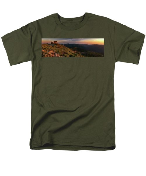 Men's T-Shirt  (Regular Fit) featuring the photograph Snow Camp Lookout by Leland D Howard