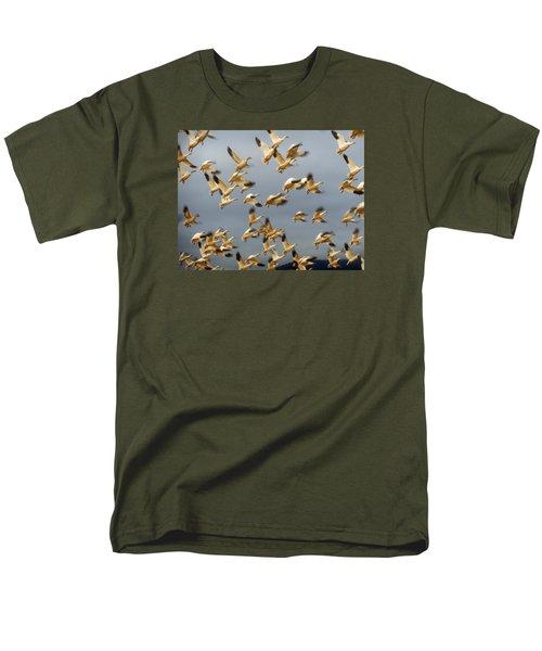 Snowgeese In Flight 2 Men's T-Shirt  (Regular Fit) by Karen Molenaar Terrell