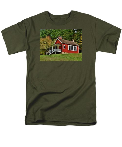 Soap Creek Schoolhouse Men's T-Shirt  (Regular Fit) by VLee Watson