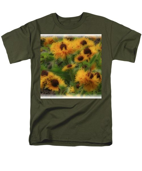 Men's T-Shirt  (Regular Fit) featuring the photograph Soft Touch Black Eyed Suzy's  by Debra     Vatalaro