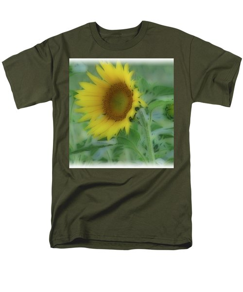 Men's T-Shirt  (Regular Fit) featuring the photograph Soft Touch Sunflower by Debra     Vatalaro