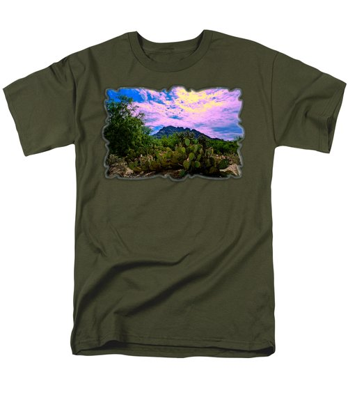 Sonoran Morning H54 Men's T-Shirt  (Regular Fit) by Mark Myhaver