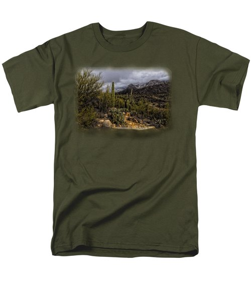 Sonoran Winter No.3 Men's T-Shirt  (Regular Fit) by Mark Myhaver