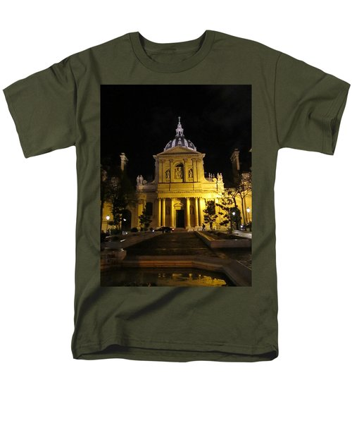 Men's T-Shirt  (Regular Fit) featuring the photograph Sorbonne Night by Christopher Kirby