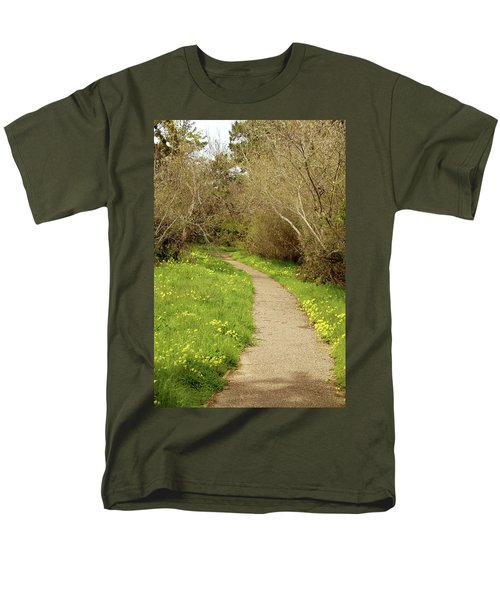 Men's T-Shirt  (Regular Fit) featuring the photograph Sour Grass Trail by Art Block Collections