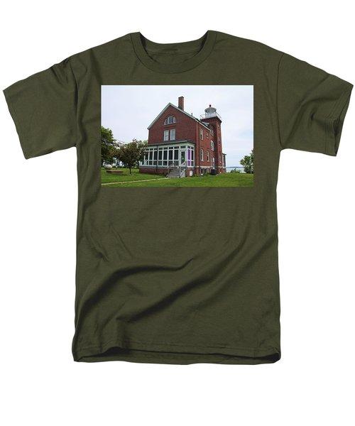 South Bass Island Lighthouse- Horizontal Men's T-Shirt  (Regular Fit) by Michiale Schneider