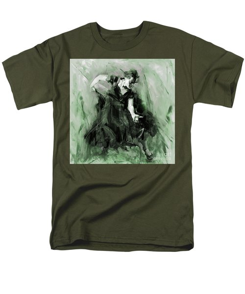 Men's T-Shirt  (Regular Fit) featuring the painting Spanish Flamenco Dancer by Gull G