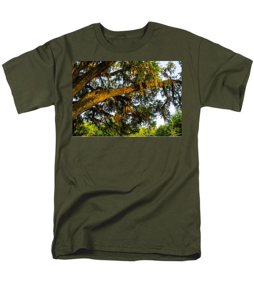Men's T-Shirt  (Regular Fit) featuring the photograph Spanish Moss In The Gloaming by Deborah Smolinske