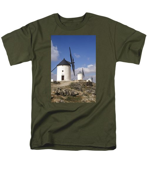 Spanish Windmills In The Province Of Toledo, Men's T-Shirt  (Regular Fit) by Perry Van Munster