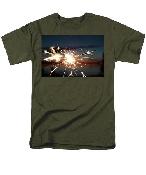 Sparklers After Sunset Men's T-Shirt  (Regular Fit) by Kelly Hazel