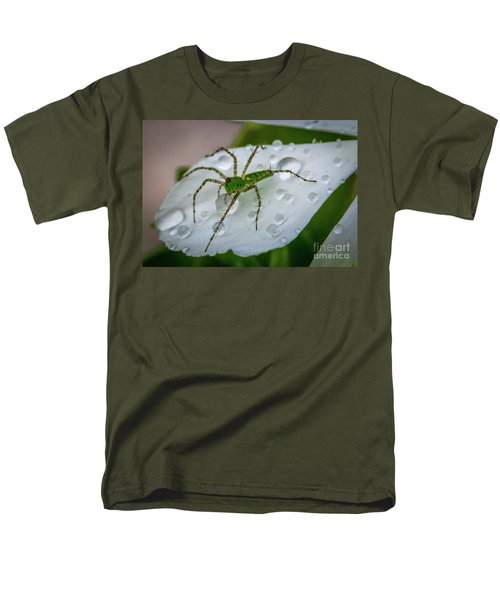 Spider And Flower Petal Men's T-Shirt  (Regular Fit) by Tom Claud