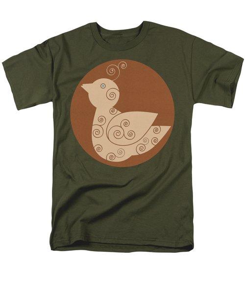 Men's T-Shirt  (Regular Fit) featuring the painting Spiral Bird by Frank Tschakert