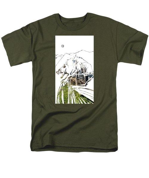 Spirit Animal . Wolverine Men's T-Shirt  (Regular Fit) by John Jr Gholson