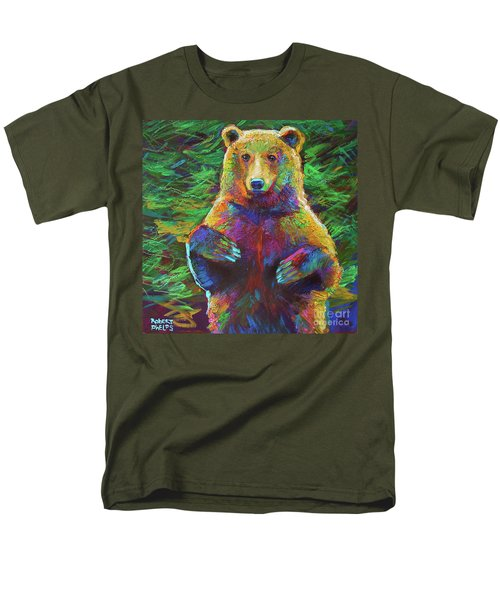 Men's T-Shirt  (Regular Fit) featuring the painting Spirit Bear by Robert Phelps