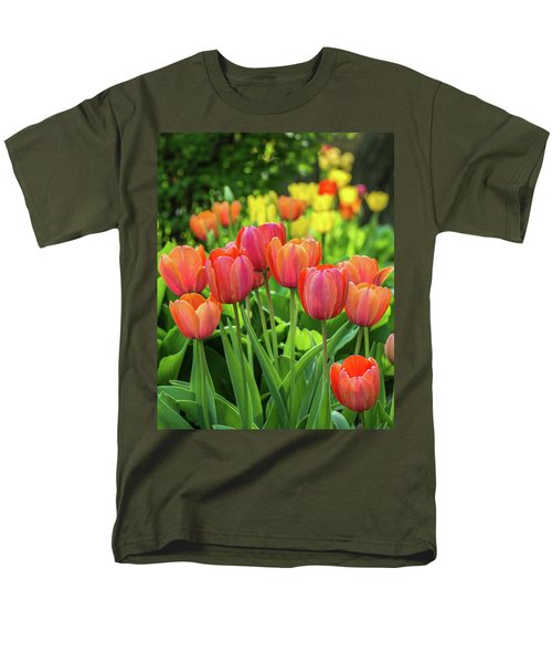 Men's T-Shirt  (Regular Fit) featuring the photograph Splash Of April Color by Bill Pevlor