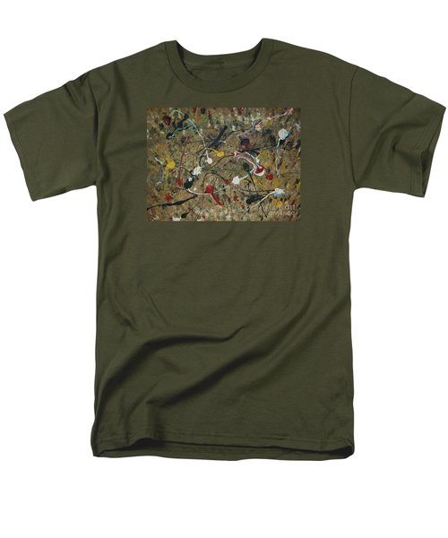 Men's T-Shirt  (Regular Fit) featuring the painting Splattered by Jacqueline Athmann