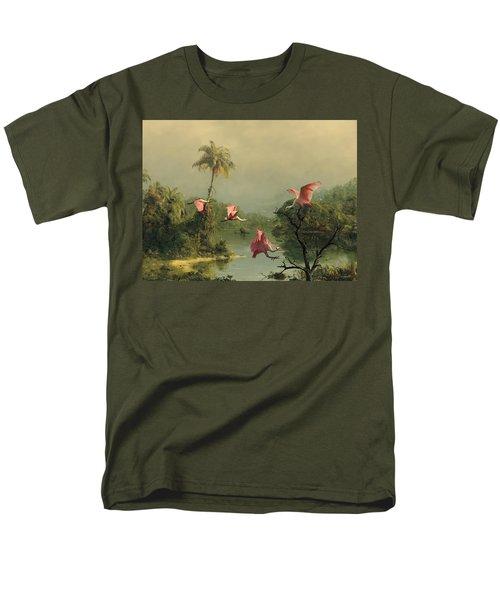 Spoonbills In The Mist Men's T-Shirt  (Regular Fit) by Spadecaller