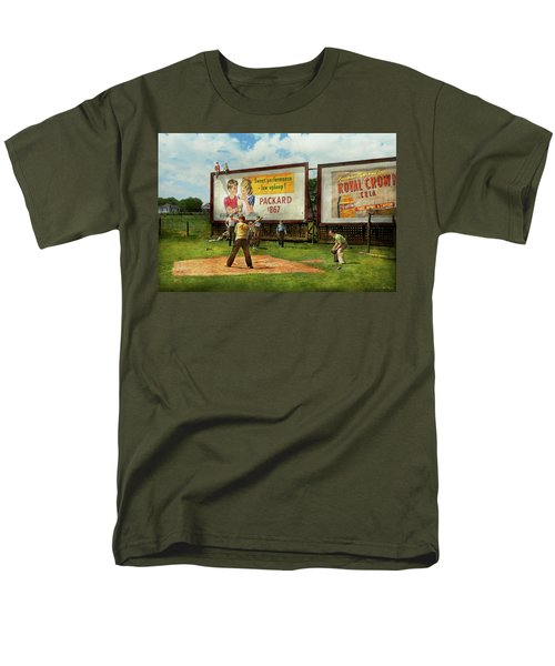 Sport - Baseball - America's Past Time 1943 Men's T-Shirt  (Regular Fit) by Mike Savad