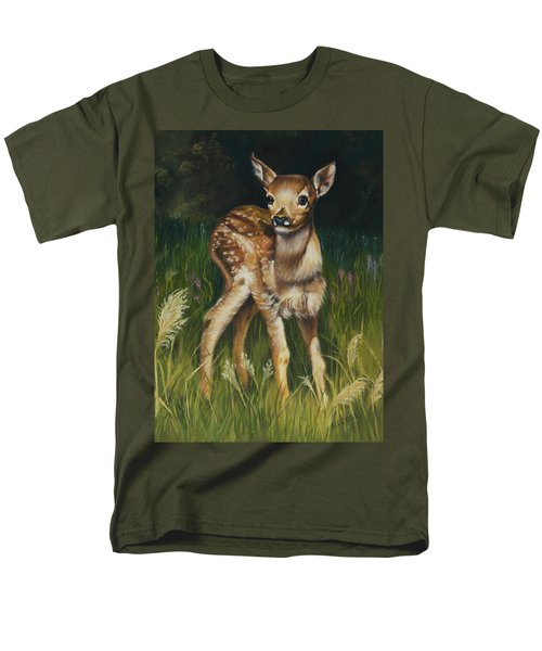 Spring Baby Fawn Men's T-Shirt  (Regular Fit)