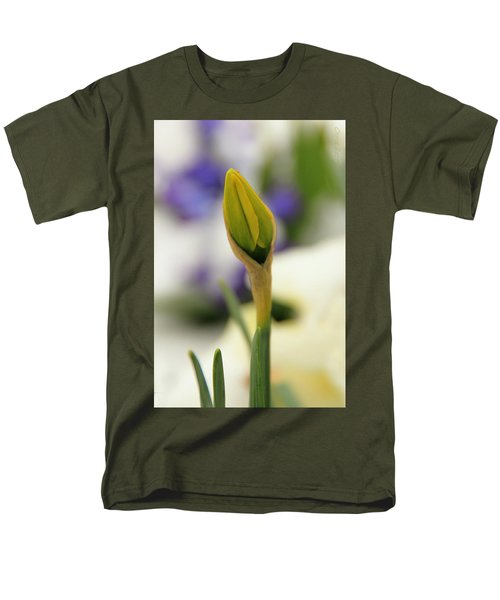 Men's T-Shirt  (Regular Fit) featuring the photograph Spring Blooms In The Snow by Chris Berry