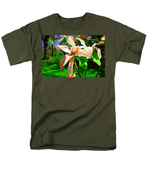 Men's T-Shirt  (Regular Fit) featuring the photograph Spring Blossom Open Wide by Jeff Swan