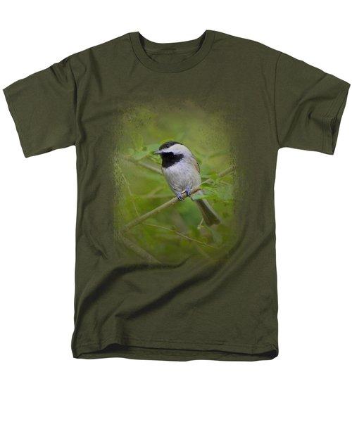 Spring Chickadee Men's T-Shirt  (Regular Fit) by Jai Johnson