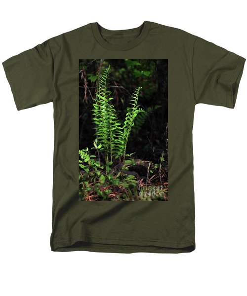 Men's T-Shirt  (Regular Fit) featuring the photograph Spring Ferns by Skip Willits