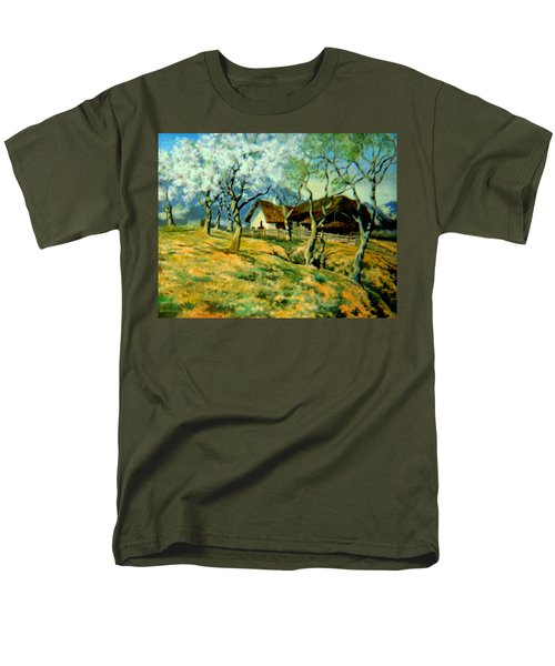 Men's T-Shirt  (Regular Fit) featuring the painting Spring In Poland by Henryk Gorecki