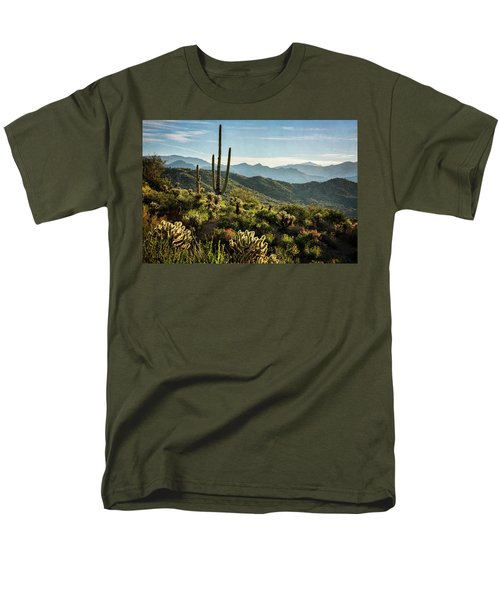 Men's T-Shirt  (Regular Fit) featuring the photograph Spring Morning In The Sonoran  by Saija Lehtonen