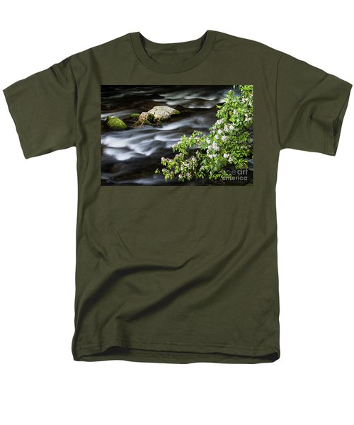 Men's T-Shirt  (Regular Fit) featuring the photograph Spring On The Oconaluftee River - D009923 by Daniel Dempster
